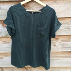 Plaid Tencel groen - niet rekbaar Meet Milk - Plaid Tencel Deep Green Biologische Tencel