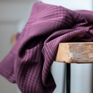 Plaid Tencel aubergine - niet rekbaar Meet Milk - Plaid Tencel Maroon Biologische Tencel