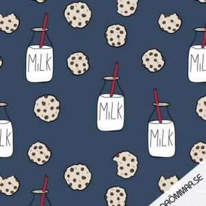 Milk and cookie Tygdrommar Biologische Tricot